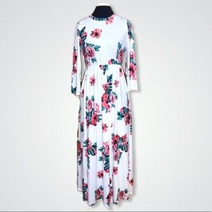 Dresses & Skirts - Floor Length Floral Maxi Dress